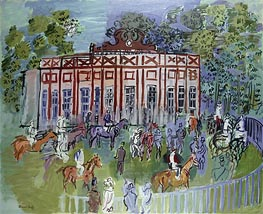 The Paddock at Chantilly, 1939 von Raoul Dufy | Gemälde-Reproduktion