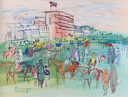 Front of the Grandstand, 1937 von Raoul Dufy | Gemälde-Reproduktion