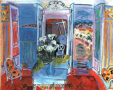 Interior with Open Windows, 1928 | Raoul Dufy | Painting Reproduction