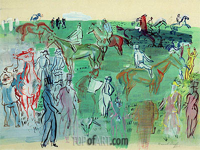 Racegoers on the Lawn, 1941   Raoul Dufy   Painting Reproduction