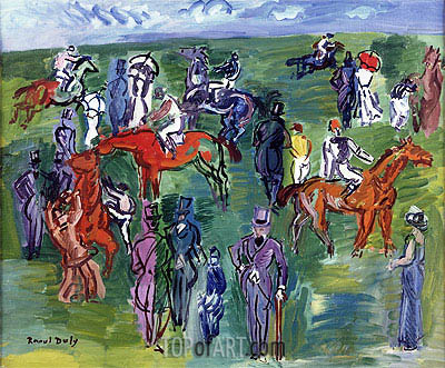 Aux Courses, undated   Raoul Dufy   Painting Reproduction
