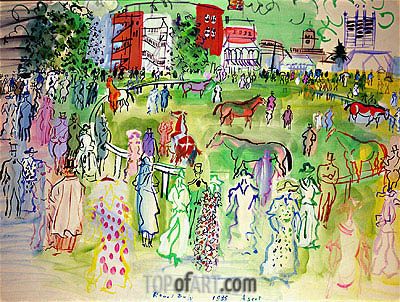 Ascot, 1935   Raoul Dufy   Painting Reproduction