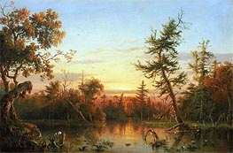 View, Dismal Swamp, North Carolina, 1850 by Regis-Francois Gignoux | Painting Reproduction