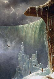 Niagara, The Table Rock - Winter | Regis-Francois Gignoux | Painting Reproduction
