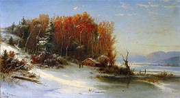 First Snow Along the Hudson | Regis-Francois Gignoux | Painting Reproduction