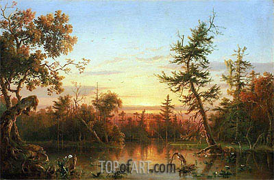 View, Dismal Swamp, North Carolina, 1850 | Regis-Francois Gignoux | Painting Reproduction