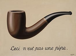 This is Not a Pipe, 1929 by Rene Magritte | Painting Reproduction