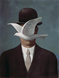 Man in a Bowler Hat, 1964 by Rene Magritte | Painting Reproduction
