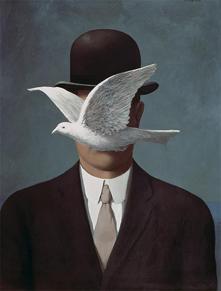 Man in a Bowler Hat, 1964 | Rene Magritte | Painting Reproduction