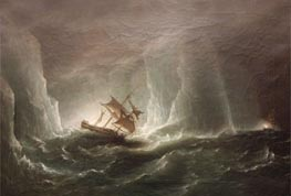 Antarctic Expedition: Escape from the Bergs, 1842 by Richard Brydges Beechey | Painting Reproduction