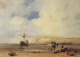 On the Coast of Picardy, c.1826 by Richard Parkes Bonington | Painting Reproduction