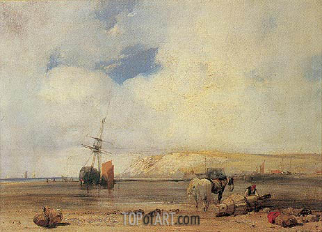 On the Coast of Picardy, c.1826 | Richard Parkes Bonington | Gemälde Reproduktion