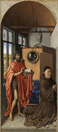 Heinrich von Werl and his Patron Saint John the Baptist, 1438 by Robert Campin | Painting Reproduction