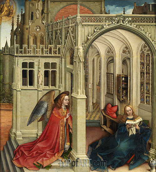 The Annunciation, c.1420/25 | Robert Campin | Painting Reproduction