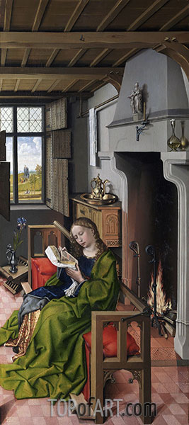 St Barbara, 1438 | Robert Campin | Painting Reproduction