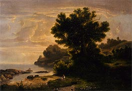 Landscape with Family by Lake, 1858 by Robert Scott Duncanson | Painting Reproduction