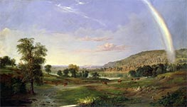 Landscape with Rainbow, 1859 by Robert Scott Duncanson | Painting Reproduction