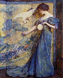 The Mirror, c.1910 by Robert Reid | Painting Reproduction