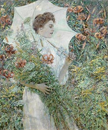 The White Parasol, c.1907 by Robert Reid | Painting Reproduction