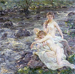 The Bathers, undated by Robert Reid | Painting Reproduction