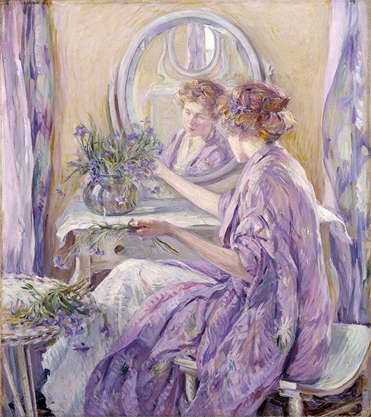 The Violet Kimono, c.1910 | Robert Reid | Painting Reproduction