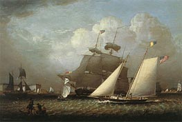 Picture of the 'Dream' Pleasure Yacht, 1839 by Robert Salmon | Painting Reproduction