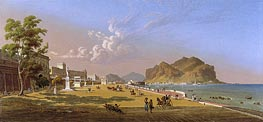 View of Palermo, 1845 by Robert Salmon | Painting Reproduction