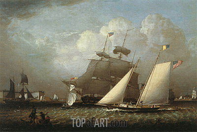 Picture of the 'Dream' Pleasure Yacht, 1839 | Robert Salmon | Painting Reproduction