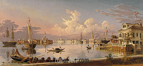 View of Venice, 1845   Robert Salmon   Painting Reproduction