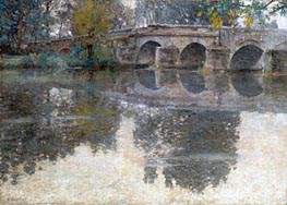 The Bridge at Grez | Robert Vonnoh | Gemälde Reproduktion