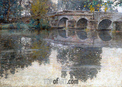 The Bridge at Grez, c.1907/11 | Robert Vonnoh | Painting Reproduction