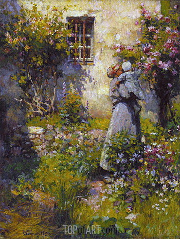 Jardin de paysanne (Peasant Garden), 1890 | Robert Vonnoh | Painting Reproduction