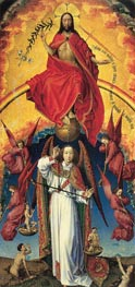 Christ and St. Michael, c.1450 by van der Weyden | Painting Reproduction