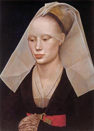 Portrait of a Lady, c.1460 by van der Weyden | Painting Reproduction