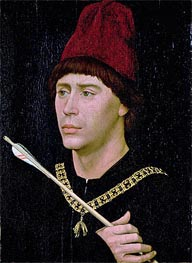 Portrait of Anthony of Burgundy, c.1456 by van der Weyden | Painting Reproduction