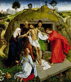Entombment of Christ | van der Weyden | Painting Reproduction