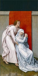Virgin and Saint John the Evangelist Mourning, c.1450/55 by van der Weyden | Painting Reproduction