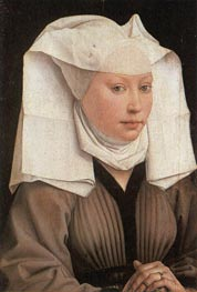 Lady Wearing a Gauze Headdress, c.1435/40 by van der Weyden | Painting Reproduction
