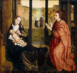 St Luke Drawing the Virgin, undated by van der Weyden | Painting Reproduction