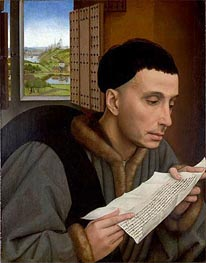 A Man Reading (Saint Ivo) | van der Weyden | Painting Reproduction