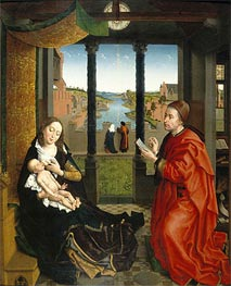 Saint Luke Drawing the Virgin's Portrait | van der Weyden | Gemälde Reproduktion