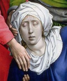 Descent from the Cross (detail), c.1435 von van der Weyden | Gemälde-Reproduktion