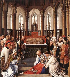 The Exhumation of Saint Hubert | van der Weyden | Painting Reproduction
