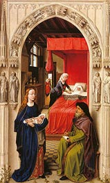 Naming of John the Baptist (Saint John Altarpiece) | van der Weyden | Painting Reproduction
