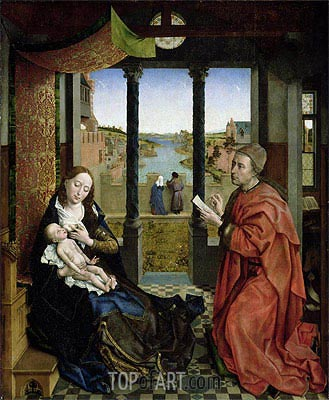 Saint Luke Drawing the Virgin, c.1435/40 | van der Weyden | Painting Reproduction