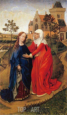 Visitation of Mary, c.1440/45 | van der Weyden | Painting Reproduction