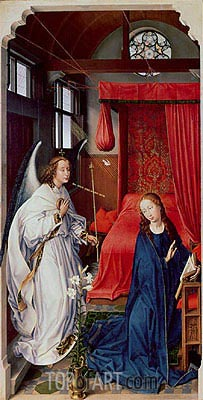 The Annunciation, c.1455 | van der Weyden | Gemälde Reproduktion