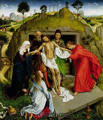 Entombment of Christ, c.1450 | van der Weyden | Gemälde Reproduktion