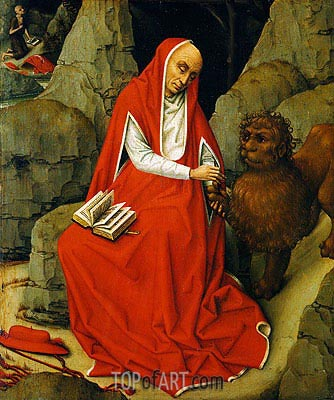 Saint Jerome in the Desert, c.1450/65 | van der Weyden | Gemälde Reproduktion