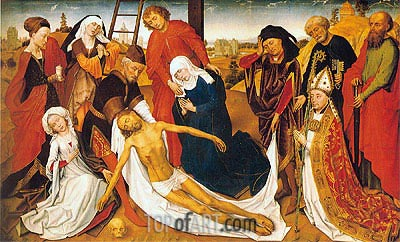Lamentation, c.1460/80 | van der Weyden | Painting Reproduction